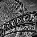 Ferris Wheel Navy Pier by Mike Burgquist