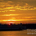 Ferry At Sunset by CapeScapes Fine Art Photography