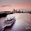 Ferry Boat At The Point In Pittsburgh Pa by Christopher Shellhammer