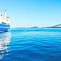 Ferry Boat On Port by Dragomir Nikolov