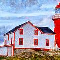 Ferryland Lighthouse In Newfoundland by Les Palenik
