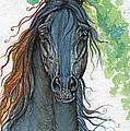Ferryt Polish Black Arabian Horse by Angel Ciesniarska