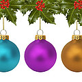 Festive Christmas Baubles by Gillian Dernie