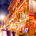Festive Streets Of Old Quebec by Mark Tisdale