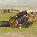 Field Drill For The Prussian Infantry  by Frederic Remington
