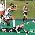 Field Hockey Hurdle by Jason O Watson