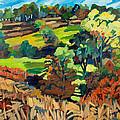 Fields In Autumn by Doris  Lane Grey
