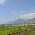 Fields Mountains Sky And A River Swat Valley Pakistan by Imran Ahmed