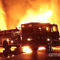 Fiery Fire Truck by Jim Lepard