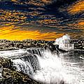 Fiery Niagara Falls by Jim Lepard