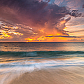 Fiery Skies Azure Waters Rendezvous by Photography  By Sai