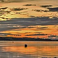 Fiery Skies Over Cumbrae by Tylie Duff
