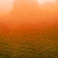 Fiery Sunrise On The Farm by Edward Fielding