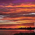 Fiery Sunset by Robert Bales