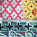 Fiesta 6- Colorful Pattern Painting by Linda Woods