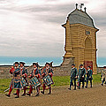 Fife And Drum Parade In Louisbourg Living History Museum-1744-ns by Ruth Hager