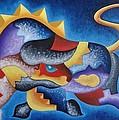Fighting Bull Spirit by Fernando Ocampo Sandy
