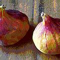 Figs Still Life Pop Art by Ben and Raisa Gertsberg