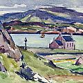 Figure And Kirk   Iona by Francis Campbell Boileau Cadell