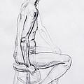 Figure Drawing Study V by Irina Sztukowski
