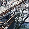 Figurehead On Sailing Ship by Brenda Kean
