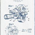 Film Camera Patent Drawing From 1938 - Blue Ink by Aged Pixel