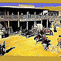 Film Homage Extras Unknown Production Old Tucson Arizona Color Added by David Lee Guss