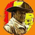 Film Homage John Wayne Andy Warhol Inspired Rio Lobo Variation 1 Old Tucson Arizona 1970-2009 by David Lee Guss