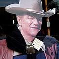Film Homage John Wayne The Man From Monterey 1933 Cardboard Cut-out Window Tombstone Arizona 2004  by David Lee Guss