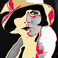 Film Homage Louise Brooks In Flapper Hat 1927-2013 by David Lee Guss