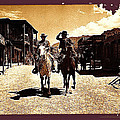 Film Homage Mark Slade Cameron Mitchell Riding Horses The High Chaparral Old Tucson Arizona by David Lee Guss