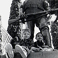Film Homage Tearing Down The Spanish Flag 1898 Veteran's Day Parade 1984 Armory Park Tucson by David Lee Guss