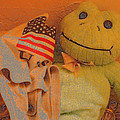Film Homage The Muppet Movie 1979 Number 1 Froggie Colored Pencil American Flag Casa Grande Az 2004 by David Lee Guss
