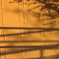 Film Noir Caught 2 1949 Shadow On Garage Door Casa Grande Arizona. 2004 by David Lee Guss