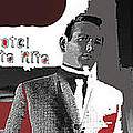 Film Noir David Janssen The Fugitive Santa Rita Hotel Front Xmas Tucson 1963 Color Added 2009 by David Lee Guss