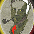 Film Noir Mystery Writer Raymond Chandler Vignetted Texture Color Added 2013 by David Lee Guss