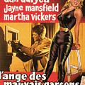 Film Noir Poster  The Burglar Jane Mansfield by R Muirhead Art