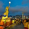 Film Statue At Avenue Of Stars by Hisao Mogi
