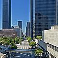 Financial District S. Flower Street Los Angeles Ca by David Zanzinger