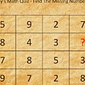Find The Missing Number - Math Quiz by Barry Jones