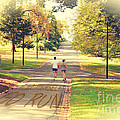 Find Yourself Go Run At Fitzroy Gardens In Melbourne Australia by Beverly Claire Kaiya