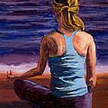 Finding Peace Sukhasana by Mary Giacomini