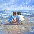 Finding Sea Shells Brother And Sister by Vickie Wade