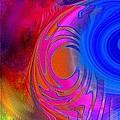 Fine Art Painting Original Digital Abstract Warp 3 by G Linsenmayer