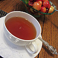 Fine Tea And Cherries by Kathy Clark
