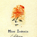 Finger Prints 1998 Forensic Whimsy Miss Indexia by Cathy Peterson
