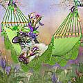 Fiona In Calla Lily Hat by Carol Cavalaris