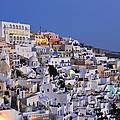 Fira Town During Dusk Time by George Atsametakis