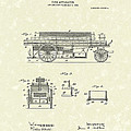 Fire Apparatus 1905 Patent Art by Prior Art Design