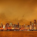 Fire In A Chicago Night Sky by Ken Smith